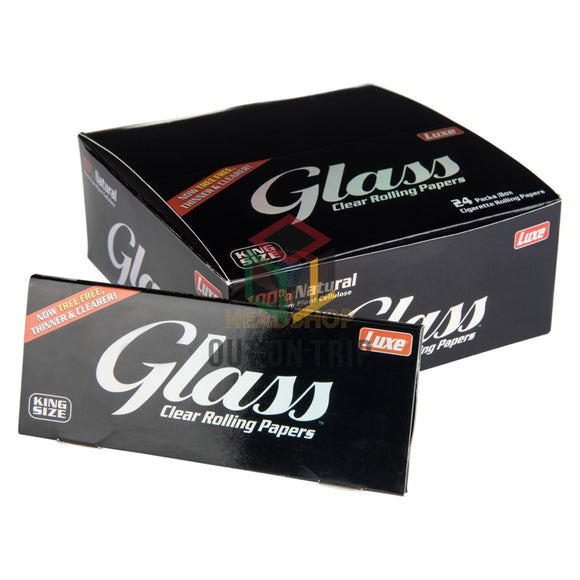Luxe Glass Clear Rolling Paper Box