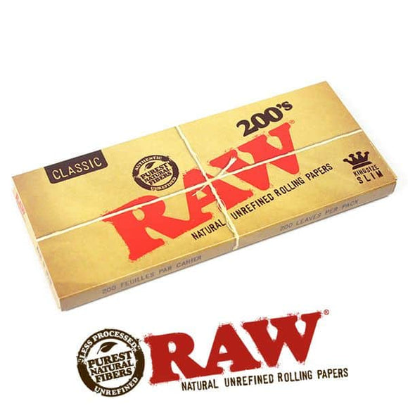 RAW Classic Rolling Papers King Size Slim - 200 Leaves