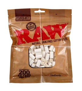 RAW COTTON FILTER TIP PACKET (200 FILTER TIPS) - Outontrip