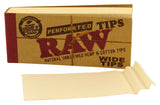 RAW WIDE ROLLING paper FILTER TIPS/ROACH Pack Of 3 & 5 - Outontrip