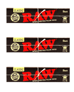RAW Black Rolling Paper King Size Slim