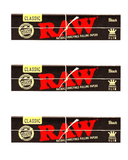 RAW Black King Size Slim 32 Leaves Rolling/Smoking paper