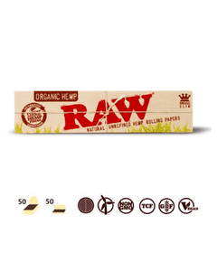 Raw Organic king size slim 32 leaves Rolling/Smoking paper