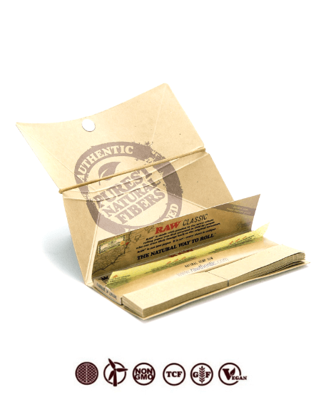 Raw Classic Artesano - Rolling Paper with Tray and Tips
