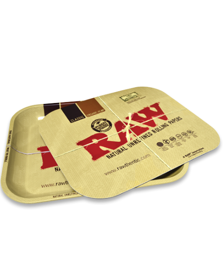 Raw metal rolling tray with Magnetic tray cover