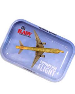 Raw high flight metal rolling tray small size
