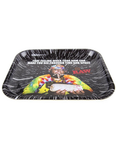 Raw Oops metal rolling tray (Medium Sized)
