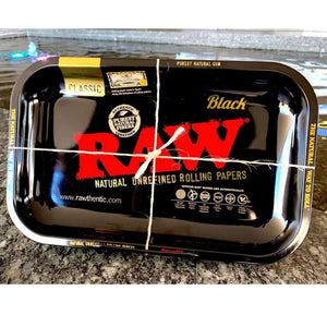 RAW Black Rolling Tray - Small