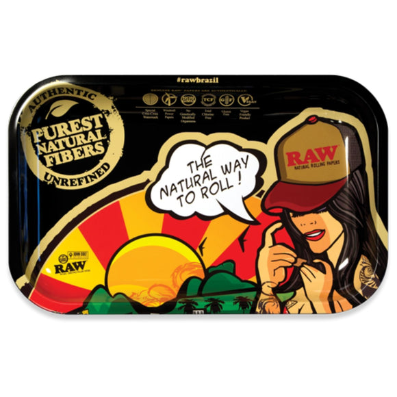 RAW Brazil Rolling Tray - Small