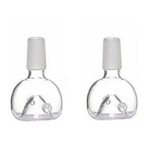Glass Bowl Accessory Set of 2 & 4 pcs For Glass Waterpipe Bong (14.4mm, Bowl)