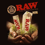 RAW Organic Rolling Paper with RAW Wide Perforated Tips - Set of 6