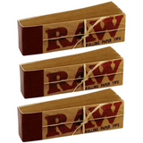 RAW ROLLING paper FILTER TIPS/ROACH Pack Of 3 or 5 - Outontrip
