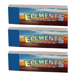 Elements ROLLING PAPER FILTER TIPS/ROACH Pack of 3 or 5