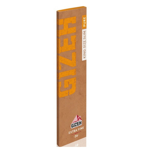 Gizeh Extra Fine King Size Slim Pure Hemp Paper