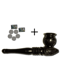 Ebony 5 inch Smoking Pipe