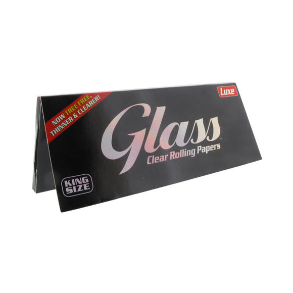 LUXE GLASS King Size 40 leaves CLEAR TRANSPARENT Rolling Papers