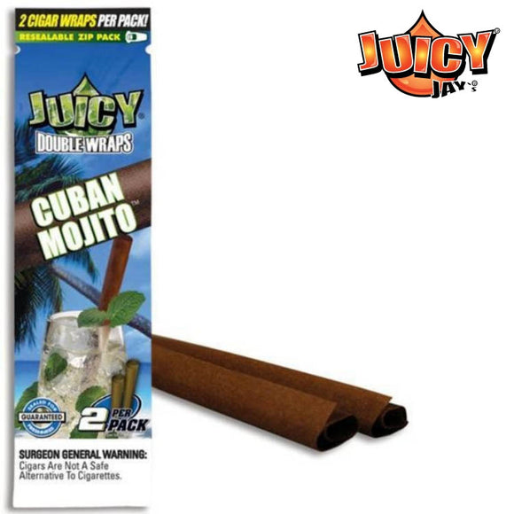 Juicy Jay Blunt Cuban Mojito (Cigar Rolling Paper) 2 Piece/Pack