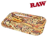 RAW Mix Metal Rolling Tray with Magnetic Tray Cover - Small