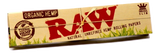 RAW Organic Rolling paper + O'Sheish Brown Filter Tips - Set of 6 - Outontrip