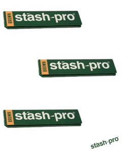 Stash-Pro King Size Brown 32 leaves Rolling Paper