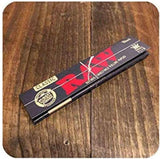 RAW Black, CLassic, Organic Rolling Paper with RAW Wide Perforated Tips - Set of 6