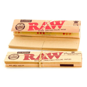 RAW Classic Connoisseur - King Size Rolling Papers with Tips