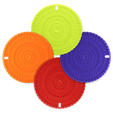 Silicone Hot Pad Food Safe Place Mat Set of 4 - COLORFUL