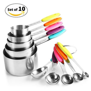 Zanmini ZKS10 Stainless Steel Measuring Spoon Set - Stainless Steel
