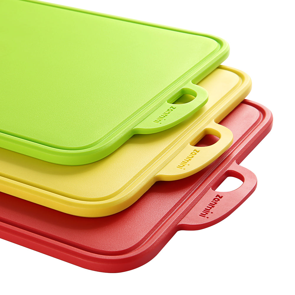zanmini Color-coded Food Graded PP Chopping Board Set