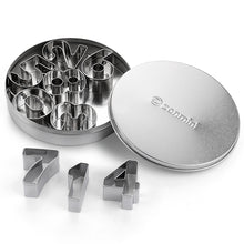 Zanmini Z - Number Stainless Steel Number Cookie Cutter Set - Silver