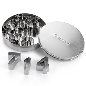 Z - Number Stainless Steel Number Cookie Cutter Set