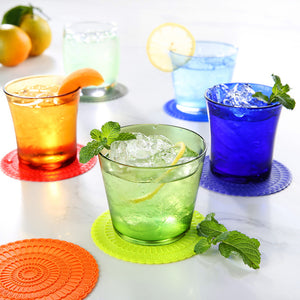 zanmini Silicone Coaster Food Safe Cup Mat Set of 6