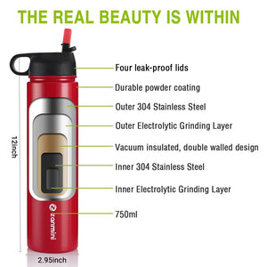zanmini BZ12 - 750 Multifunctional Sport Water Bottle 750ML