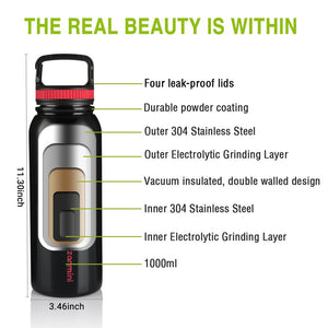 BZ12-1000 Multifunctional Sport Water Bottle 1000ML