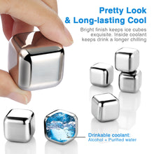 ZMI08 Stainless Steel Ice Cubes-STAINLESS STEEL