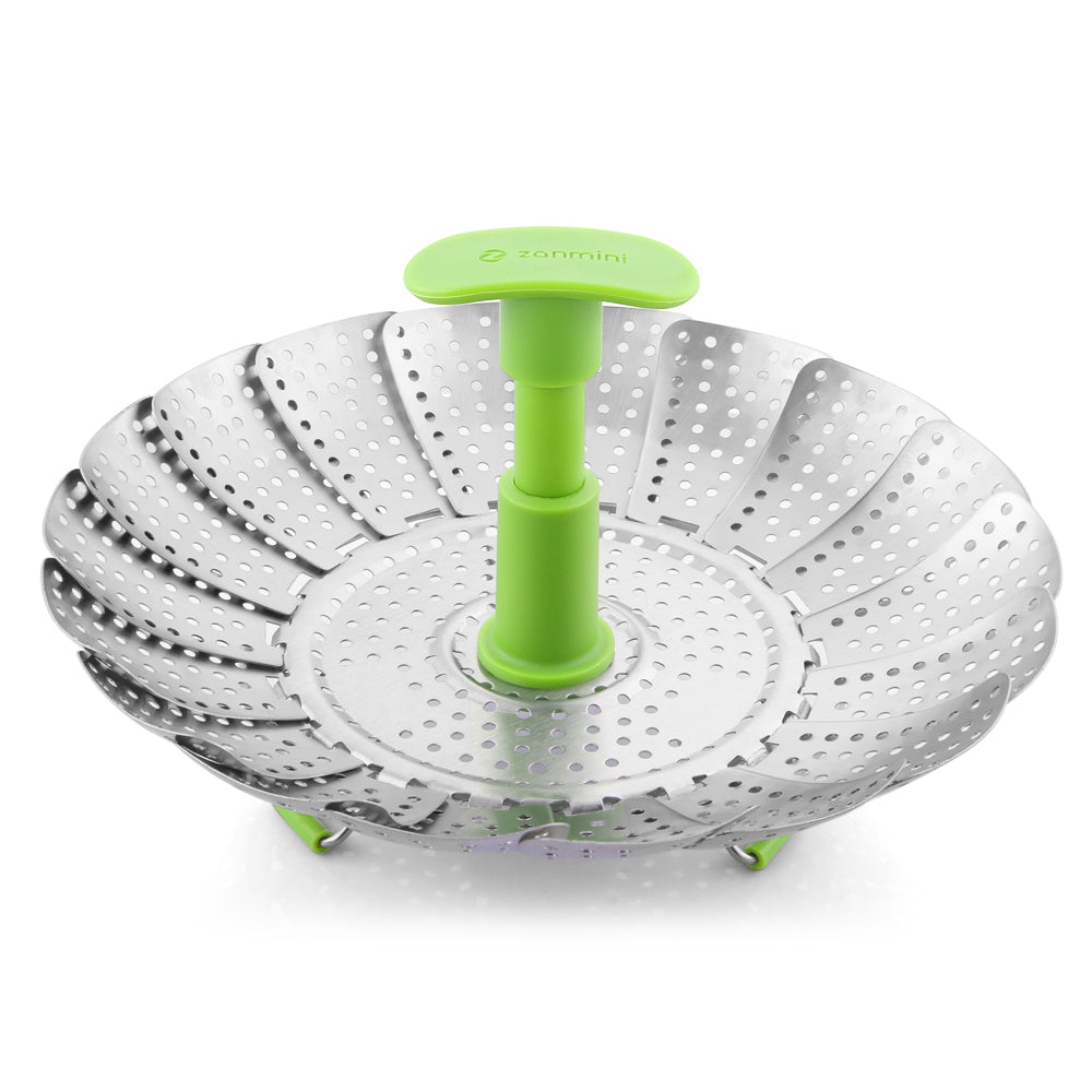 ZS3 9/11 inch Stainless Steel Collapsible Food Steamer Basket