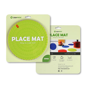 zanmini Silicone Hot Pad Food Safe Place Mat Set of 4  -  COLORFUL