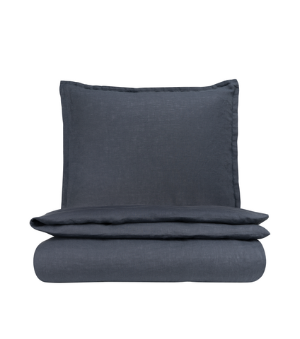 Graphite Blue Påslakanset - Soft Linen