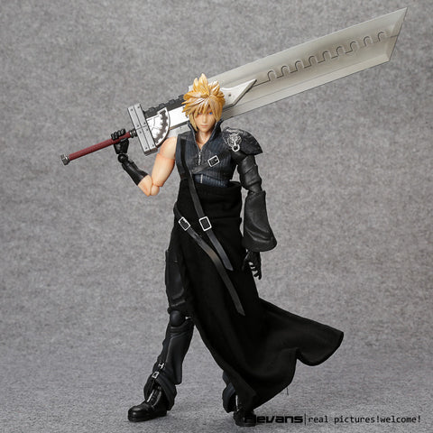 Highly Collectible PlayArts KAI Cloud Strife PVC Action Figure - Loverly's Toys