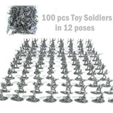 100-Piece Plastic Army Men - Loverly's Toys