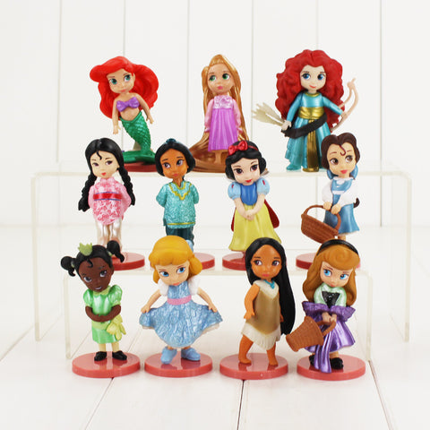 HOT 11-Piece Disney Princess Toys!  Includes Moana, Snow White, Princess Merida, Mulan, Princess Tiana, Princess Jasmine, Belle, Little Mermaid - Loverly's Toys