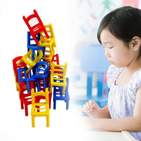 18-pc. Stackin' Balancin' Chairs.  Fun for the whole family! - Loverly's Toys