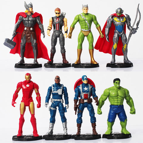 "HOT ""Age of Ultron"" 8-Piece Action Figures Collection!  Great for the superhero fan! - Loverly's Toys"