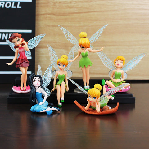 Adorable 6-Piece Tinkerbell Fairy Toy, Great Gift! - Loverly's Toys