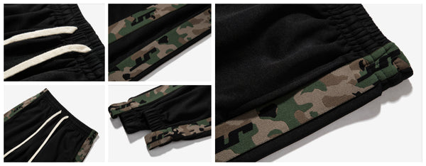 Detail Show for Side Striped Camo Joggers