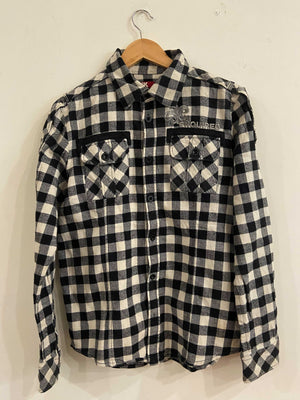 ASK Black and White Flannel Shirt