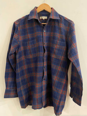Deacock Blue and Red Flannel Shirt