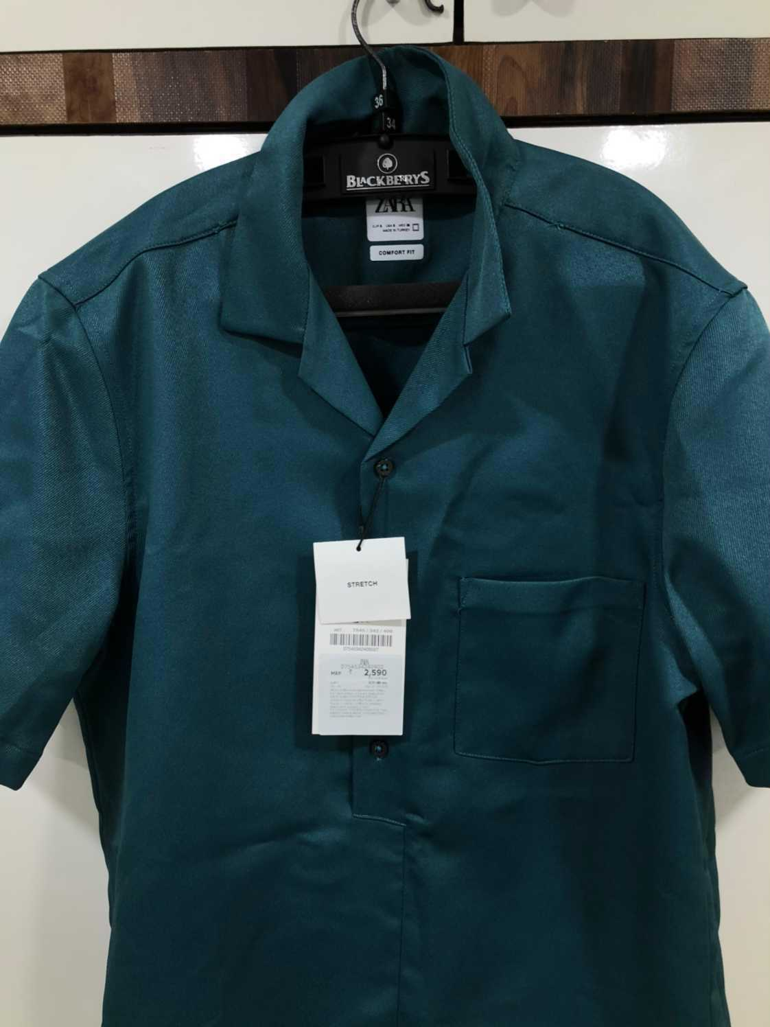 Blue Zara Half Sleeve Shirt