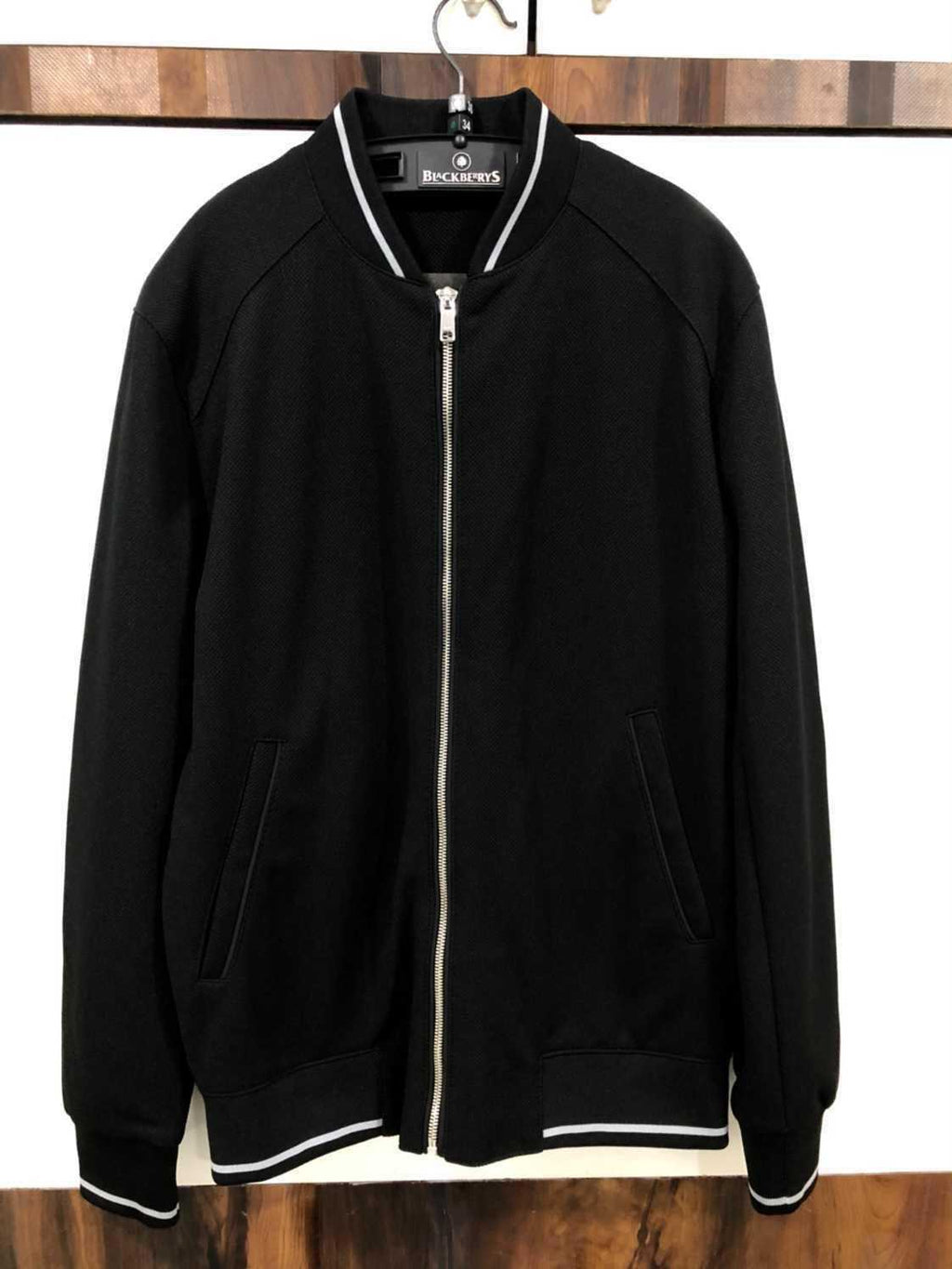 Black Zara Bomber Jacket
