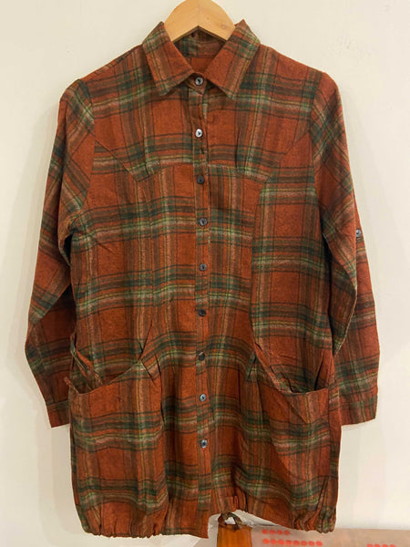 Rust Flannel Shirt